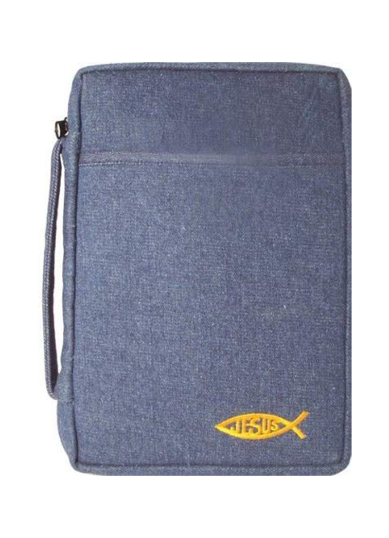 Bible Cover Blue Denim - Bibles - LifeSource Bookshop