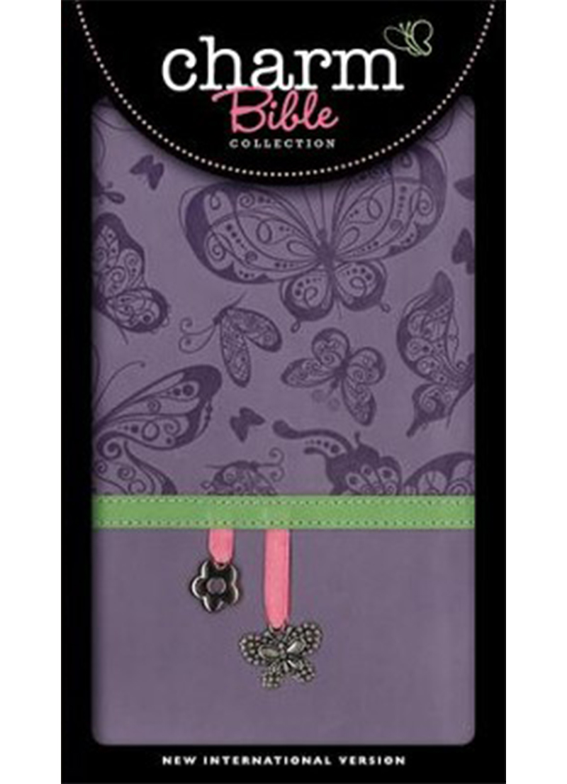 NIV Charm Collection Bible Lavender Butterflies