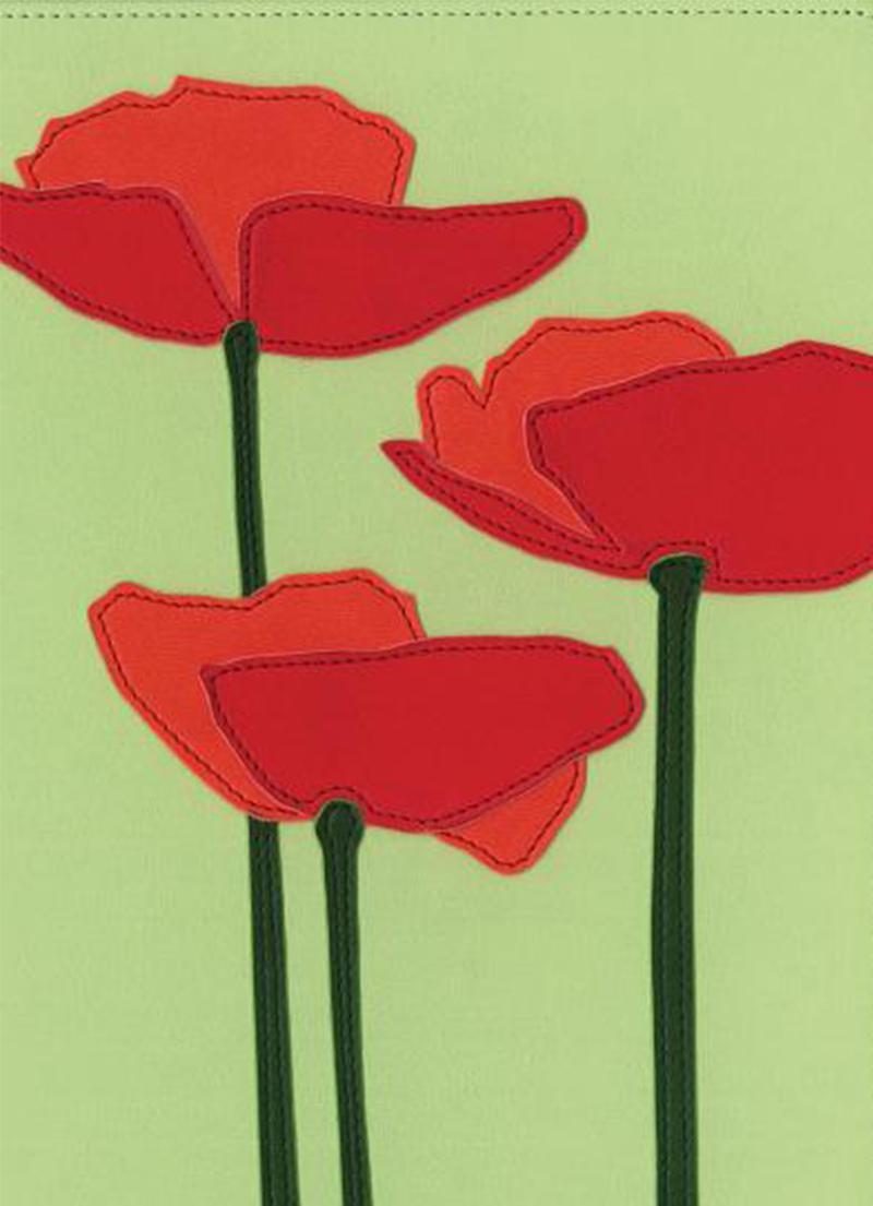 KJV Thinline Bloom Bible (Duotone Poppies)