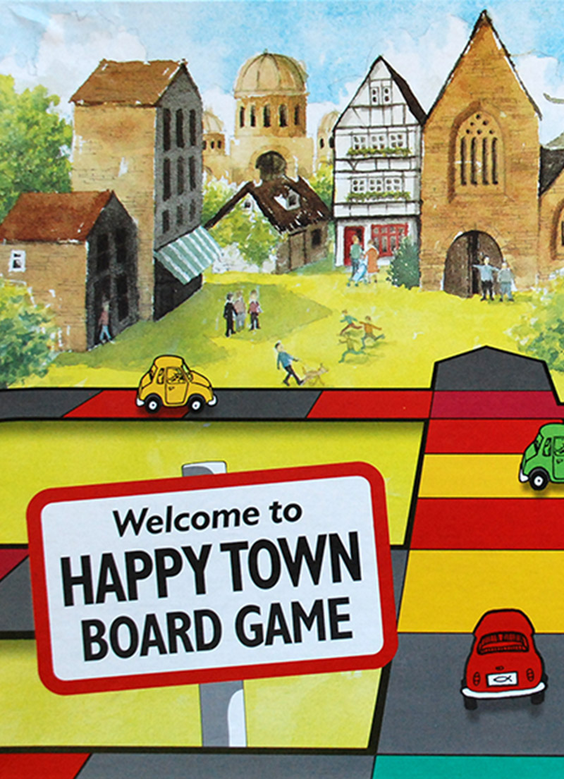 Happy Town Board Game - Christian Children's Games
