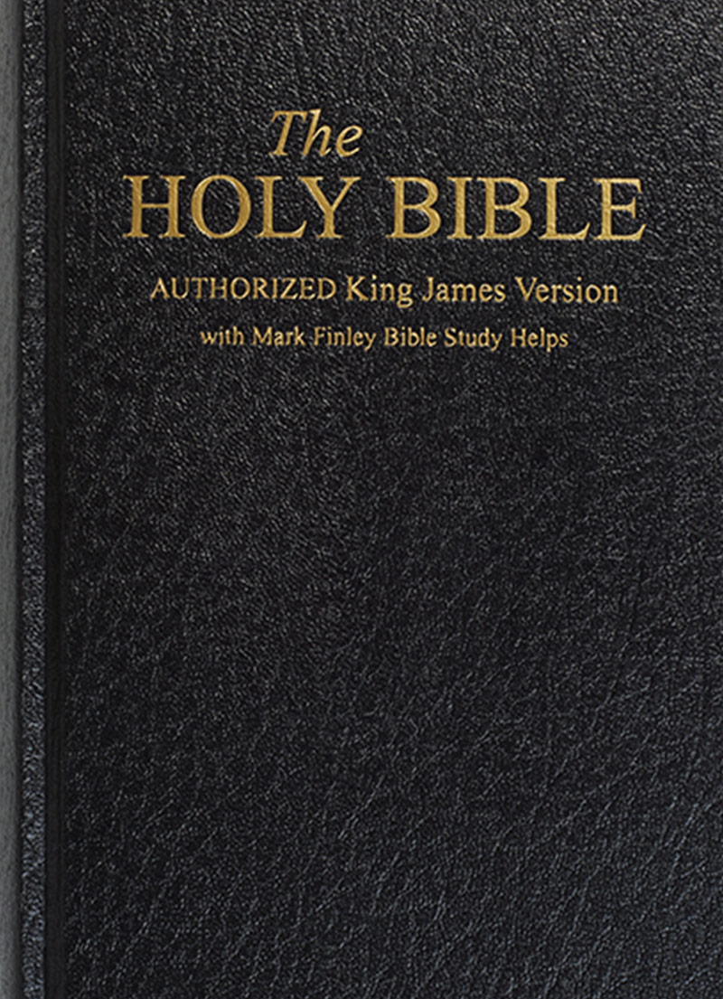 KJV Bible With Mark Finley Study Helps (Black Hardcover)