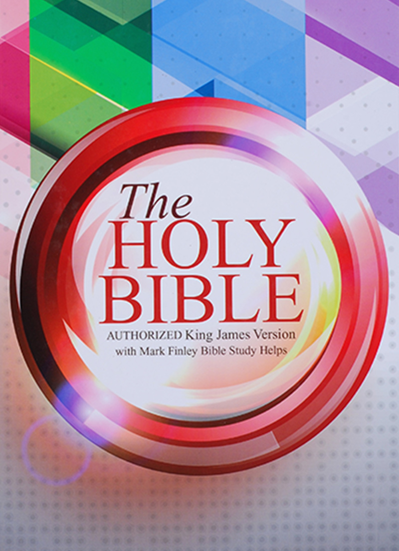 KJV Bible With Mark Finley Study Helps (Colourful Hardcover)