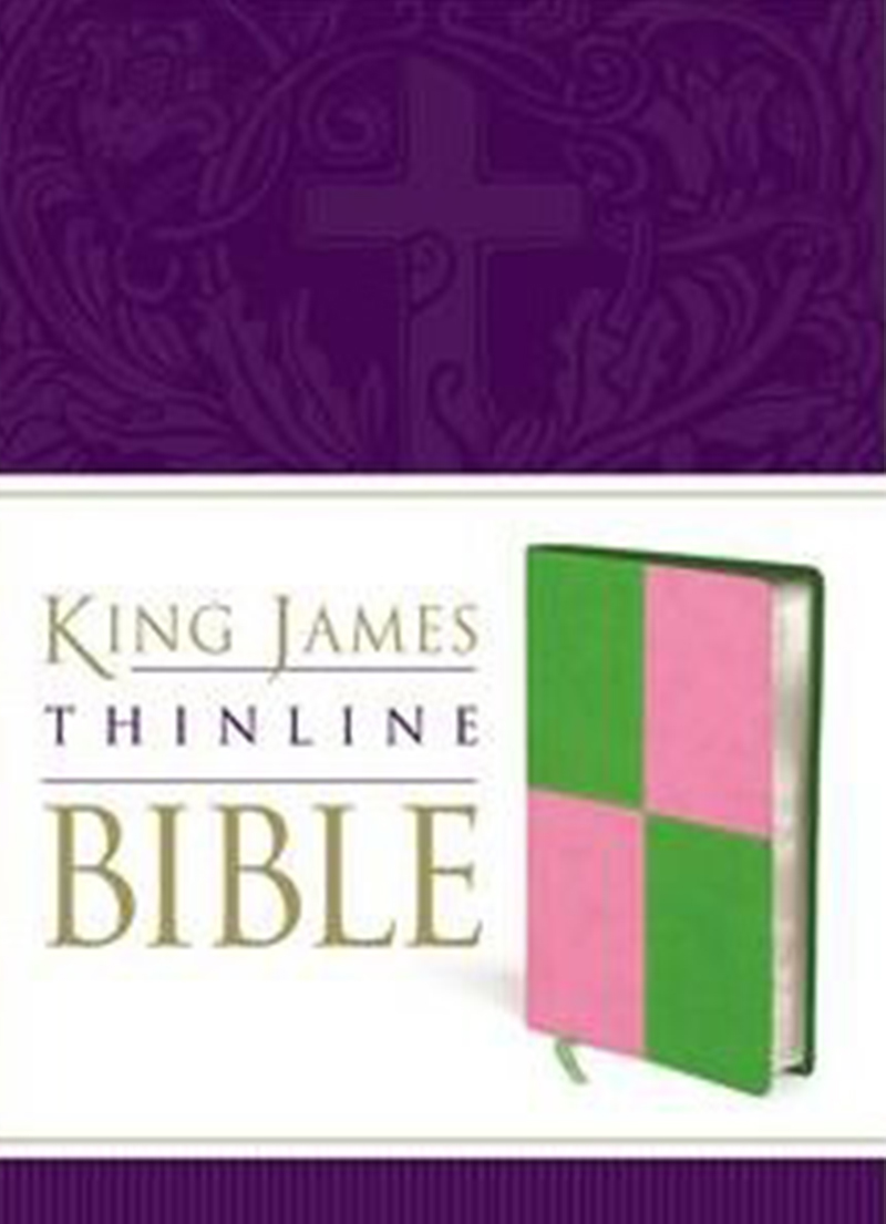 KJV Duotone Bible (Green/Pink) - Bibles