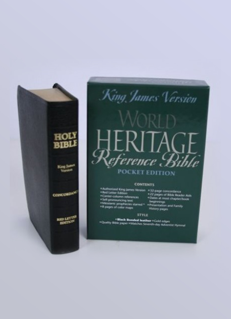 KJV Heritage Pocket Reference Bible (Black Leather)