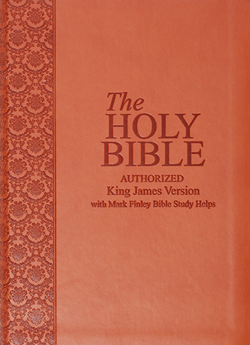 KJV Bible With Mark Finley Study Helps (Tan PU Cover)