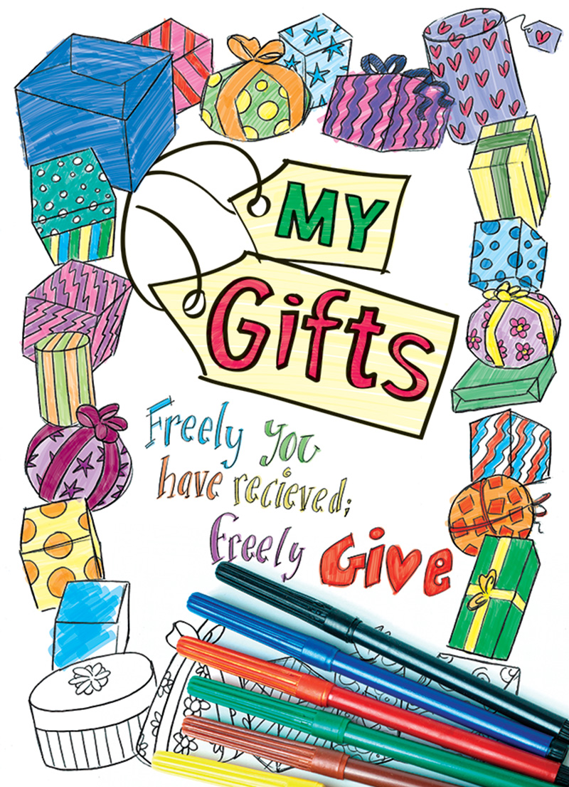 My Gifts - Colouring Book - LifeSource Christian Bookshop