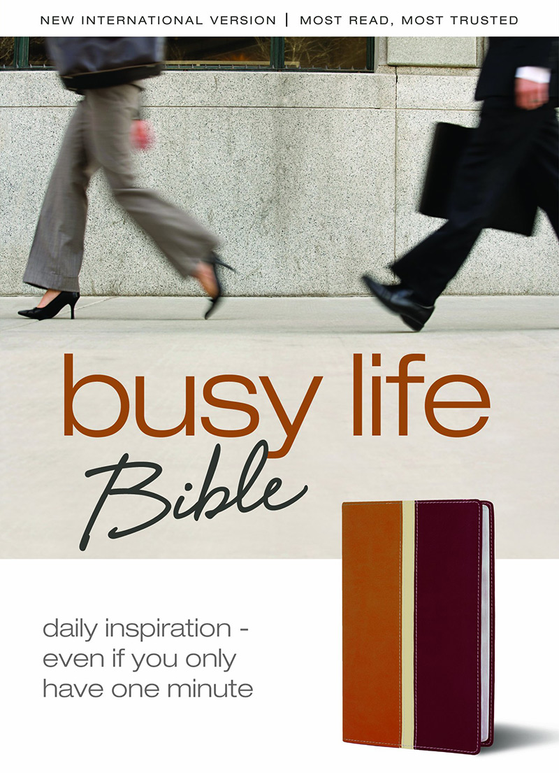 NIV Busy Life Bible (Tan and Red Leathersoft)