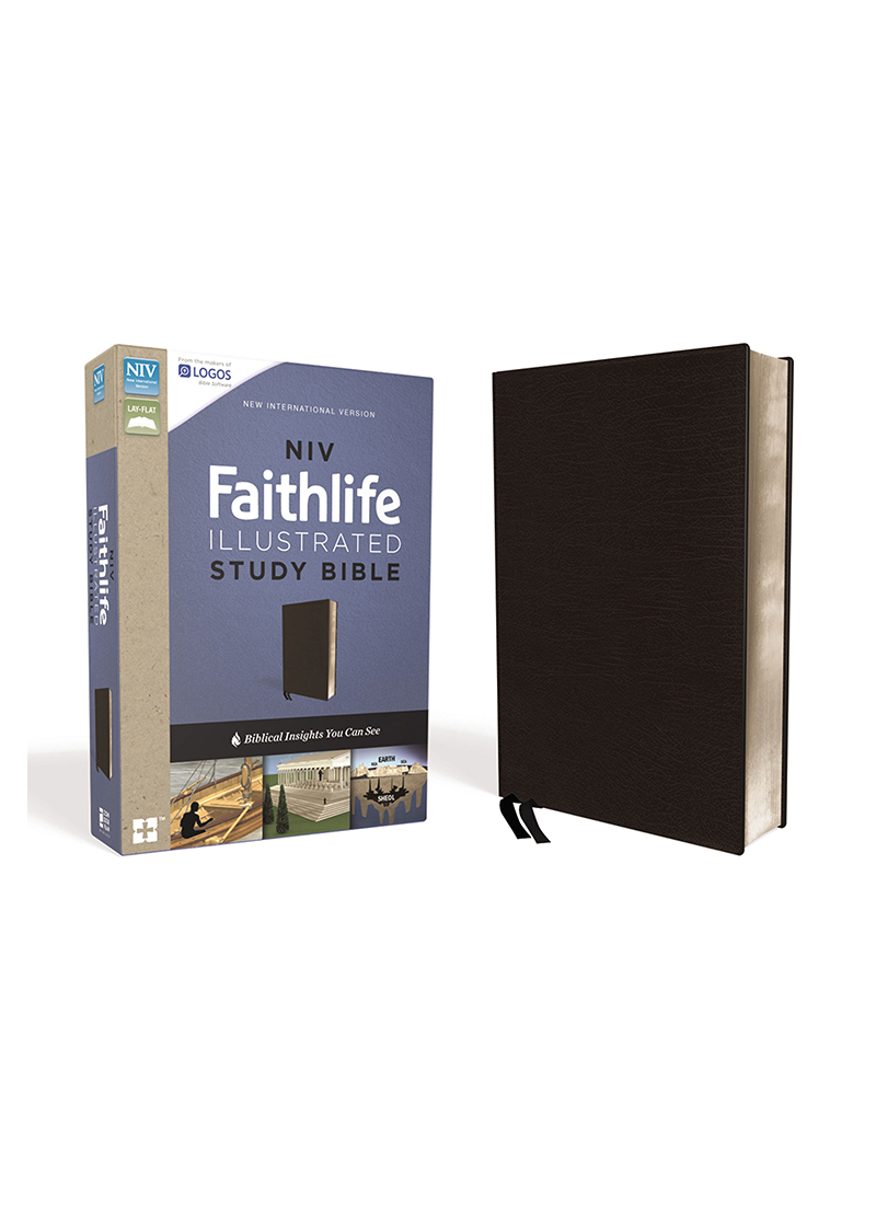 NIV Faithlife Study Bible (Black Leather) - Bibles