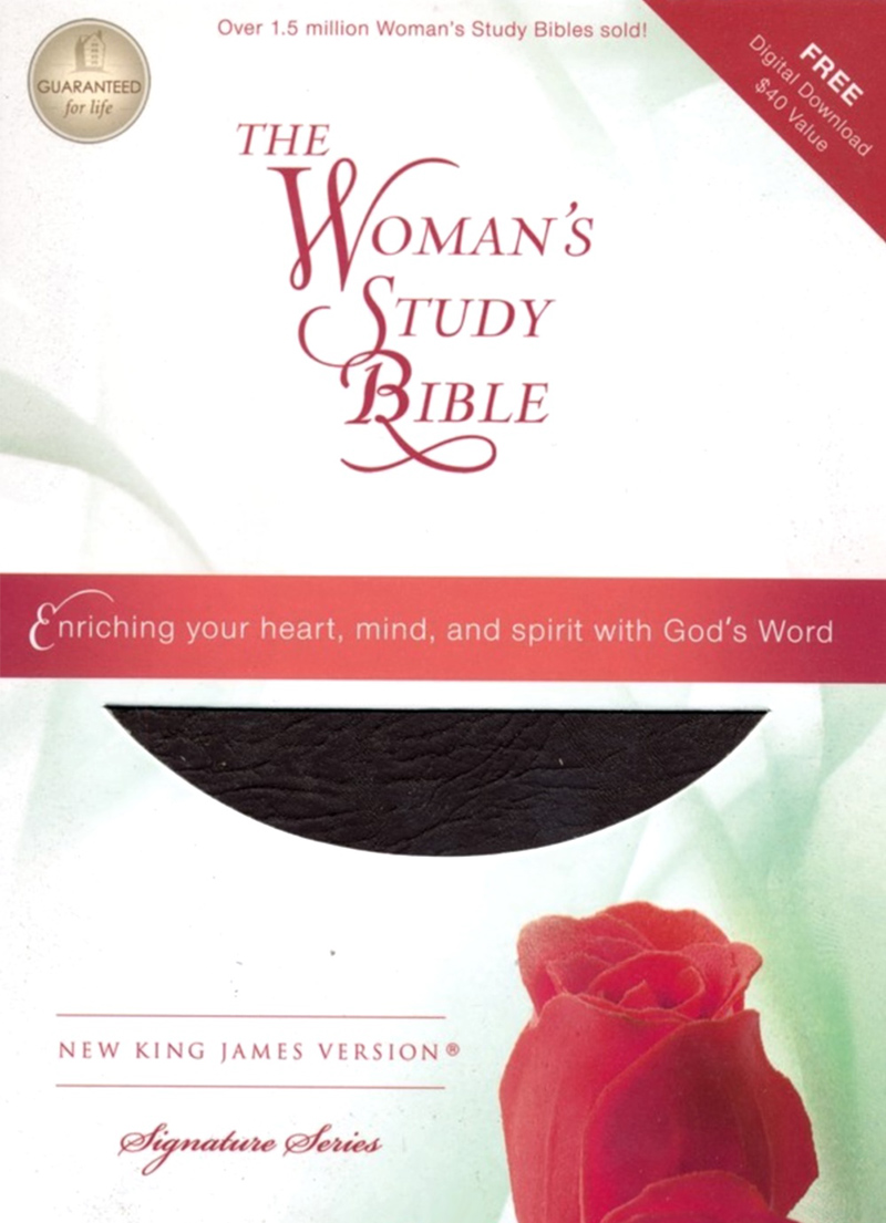 NKJV Women's Study Bible (Burgundy Leather)